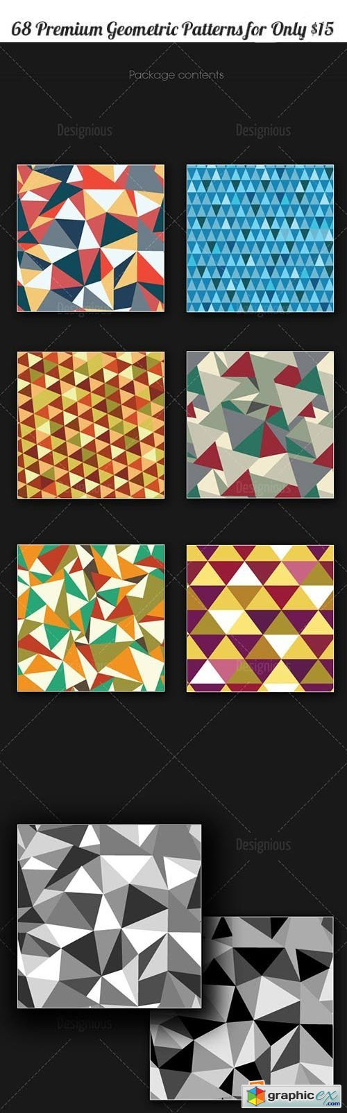 Inkydeals - 68 Seamless Geometric Patterns