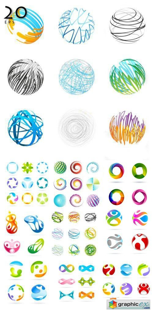 3D Vector Design Elements I, 20xEPS
