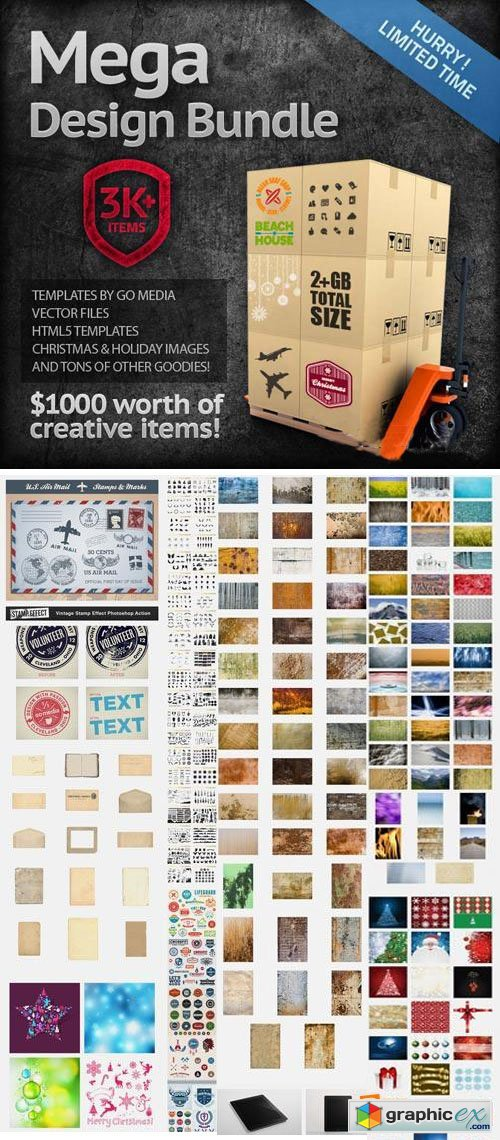 MightyDeal - 3,000 Items! MEGA Design Bundle