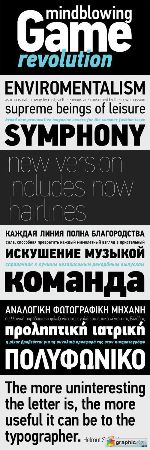 PF Din Text Condensed Pro Font Family - 14 Fonts