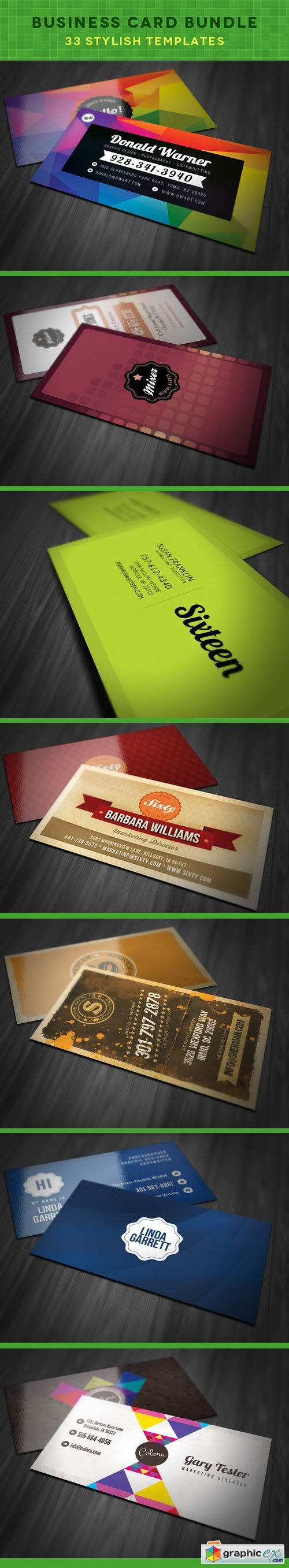Business Card Bundle: 33 Stylish Templates