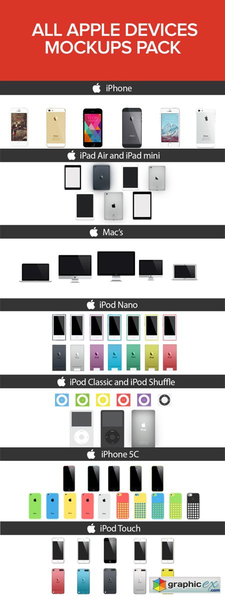 Creativemarket All Apple Devices Mockups Pack 31300
