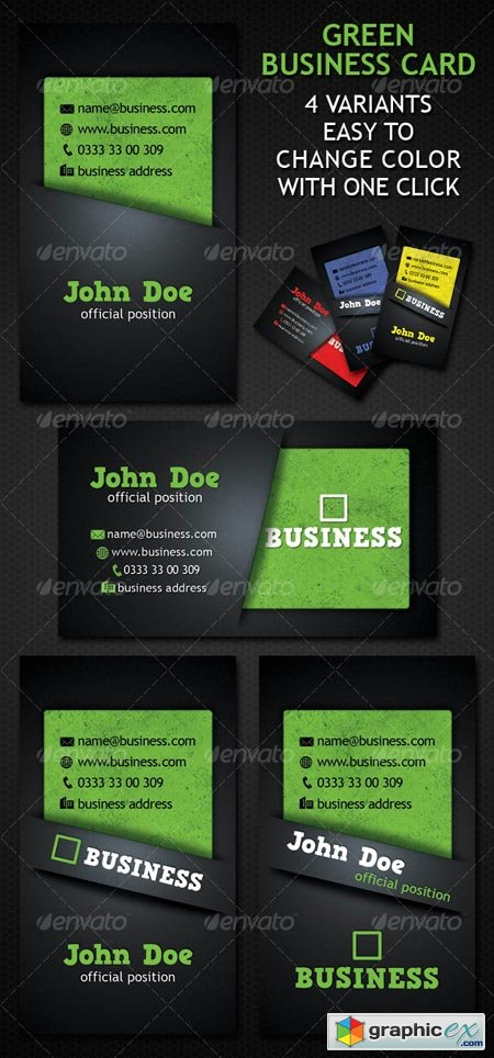 Green Business Card 4 Variation 88470