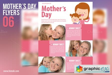 Creativemarket Mother´s Day Flyers 34571