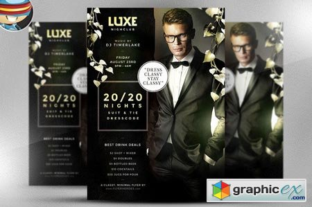 Creativemarket 20/20 NightsPSD Flyer Template 36939