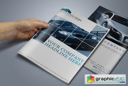 Creativemarket Automobile Brochure Template 15297
