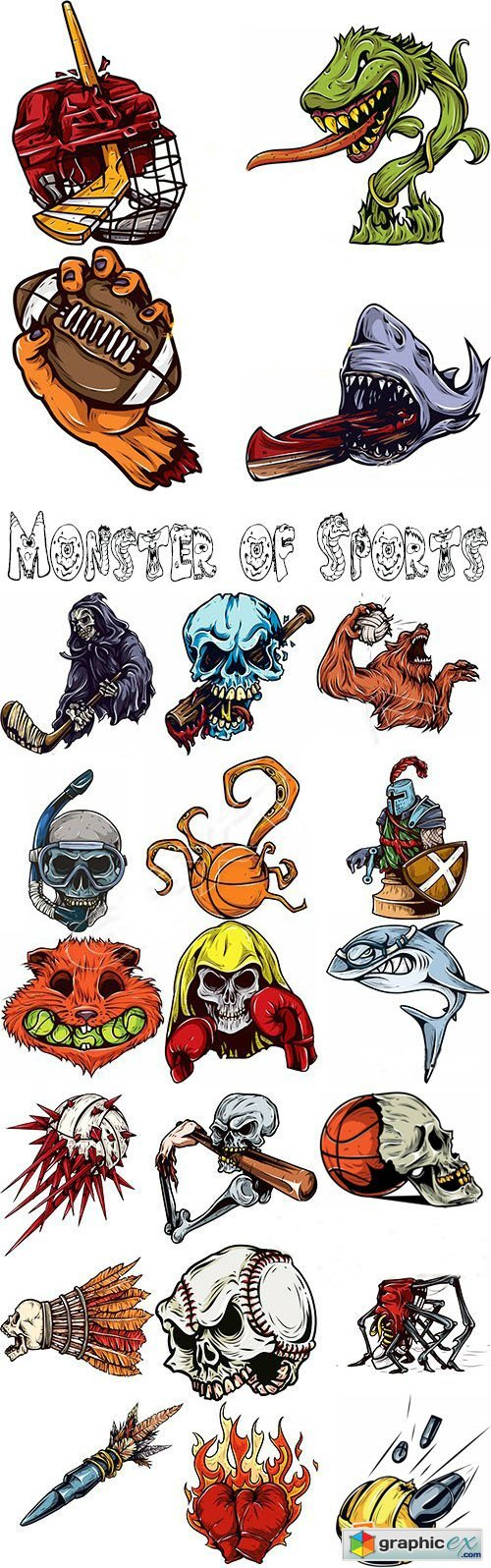 Monster of Sports Stock Image Vectors and Illustrations