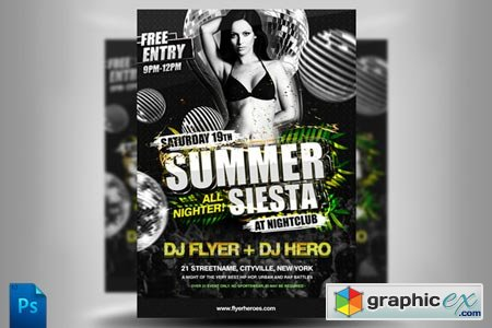 Creativemarket Summer Siesta Flyer Template 228
