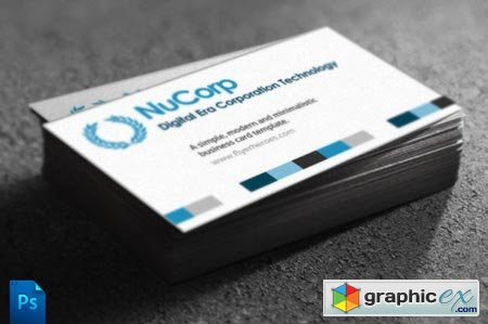 Creativemarket NuCorp Corporate Business Card 314