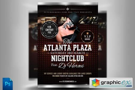 Creativemarket Atlanta Plaza Flyer Template 488