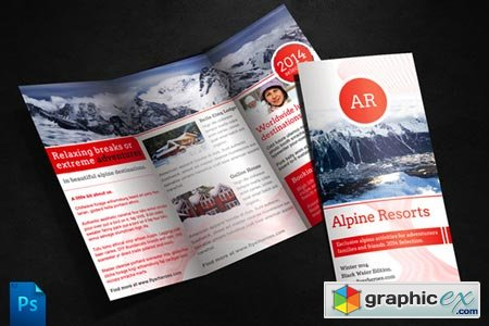 Creativemarket Alpine Travel Brochure Template 246