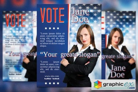 Creativemarket Vote Election Flyer Template 20879