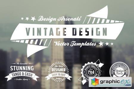 Retro Logo Amp Badge Templates 21314 187 Free Download Vector