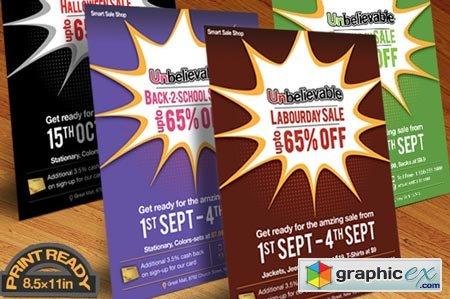 Creativemarket Any Event Day Sale Flyer, Poster 9139