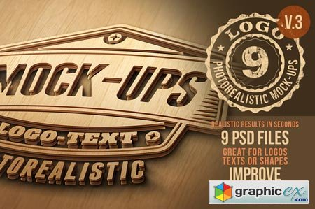 Creativemarket Photorealistic Logo Mock-Ups Vol.3 17863