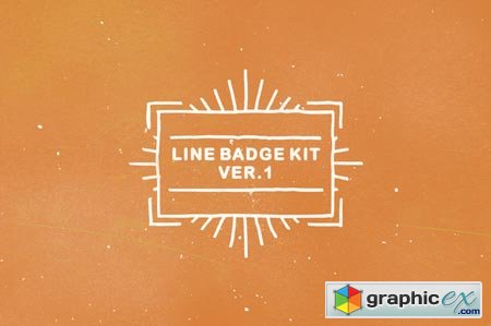 Creativemarket Line Badge Kit ver. 1 17796