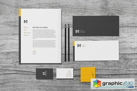 Creativemarket Chroma - Stationery Set 33399