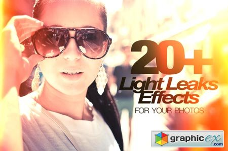 Creativemarket 20+ Light Leaks for Your Photos 12087