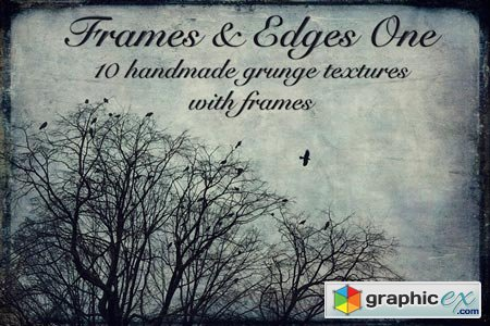 Creativemarket Frames and Edges one - Textures 25135
