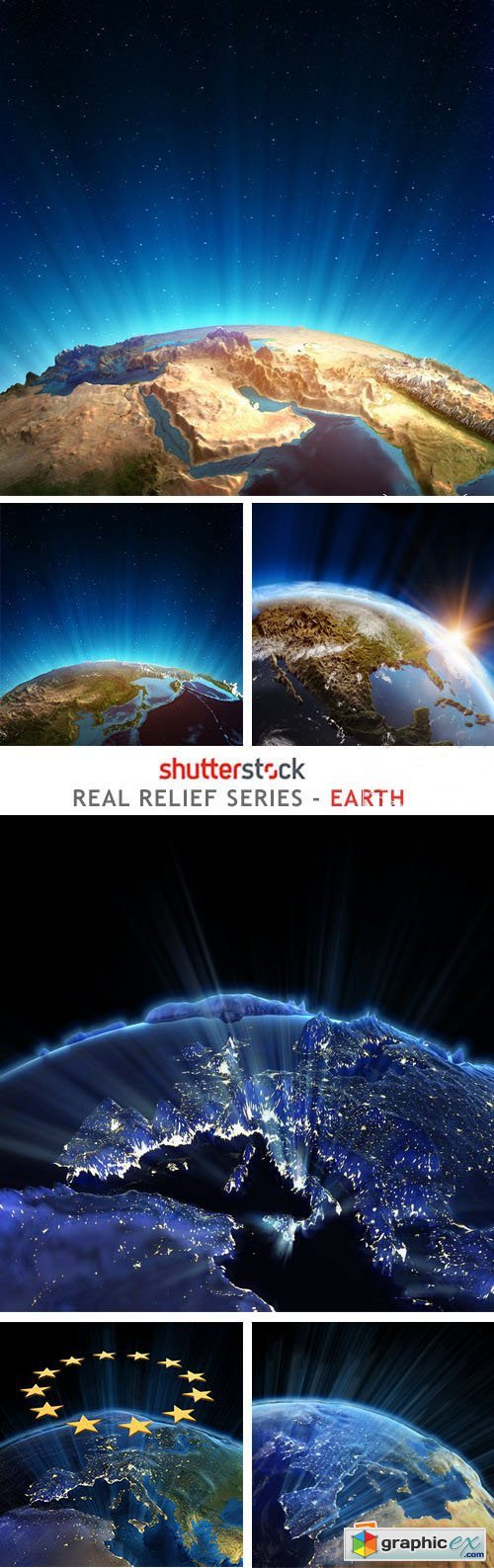 Real Relief Series - Earth - 24xJPG