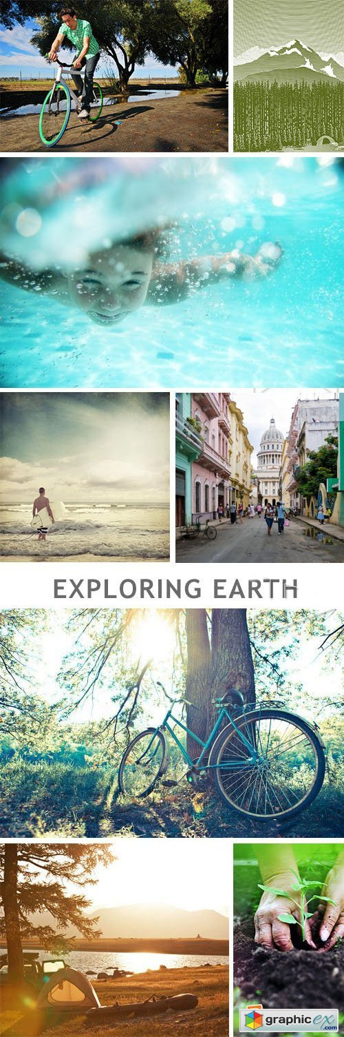 Exploring Earth - 39xJPG + 5xEPS