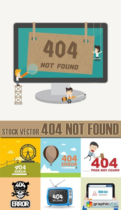 Stock Vectors - 404 Not Found, 25xEps
