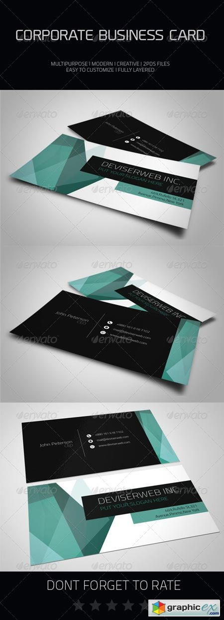 Corporate Business Card 6913227