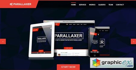 Creativemarket Parallaxer new one page Bootstrap 7772