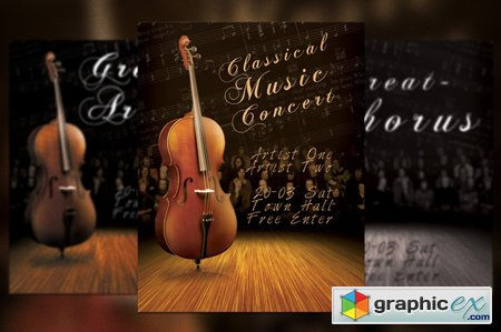 Creativemarket Classic Music Concert Flyer Poster 6229
