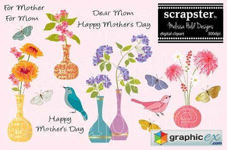 Creativemarket Mother's Day Card Clipart 36848