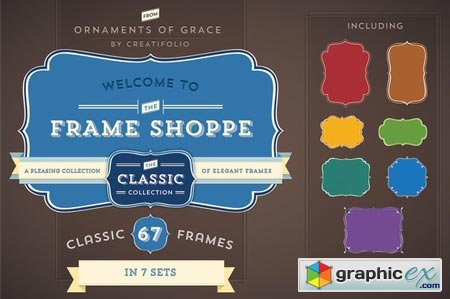 67 Classic Frames (PSD with Paths) 3187
