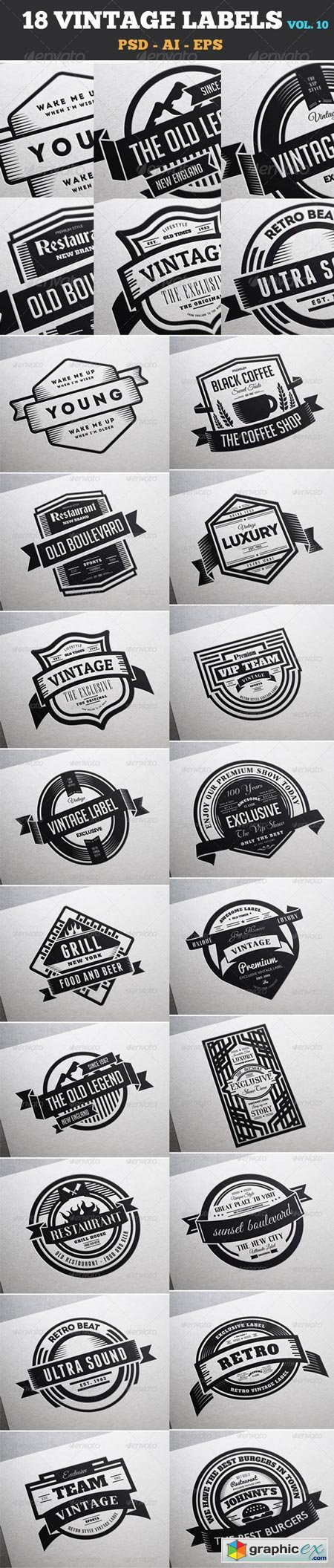 18 Vintage Labels & Badges Logos Insignias V10 7292169