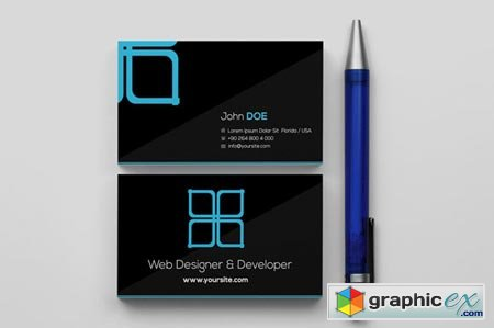 Creativemarket Window Black Business Card 5438