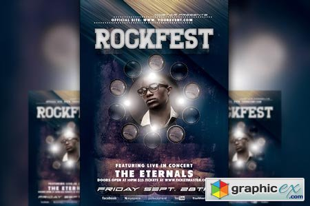 Creativemarket Rockfest Flyer Template 3935