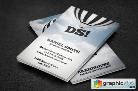 Creativemarket Hot Air Balloon Business Card 5474