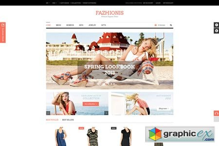 Creativemarket Fazhionis - eCommerce PSD Template 3759
