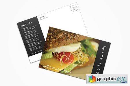 Creativemarket Fast Food Postcard 3737