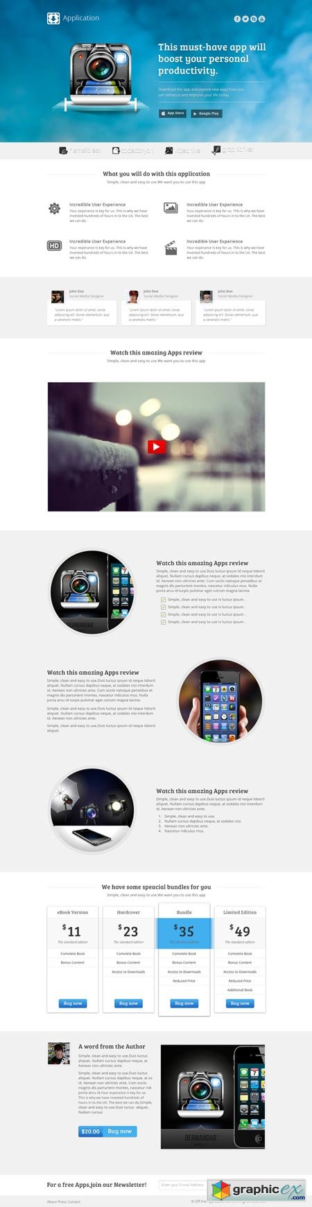 Creativemarket Application - Landing page for apps 4400