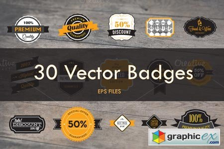 Creativemarket 30 Vector Badges 21411