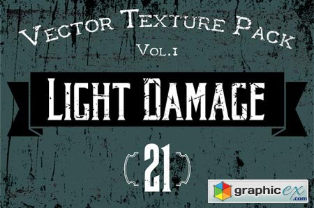 Creativemarket 21 Vector Textures - Light Damage 33723