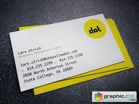 Creativemarket The Yellow Dot Business Card 1995