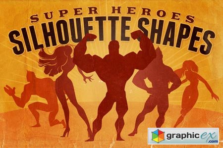 Creativemarket Silhouette Shapes - Super Heroes 26110