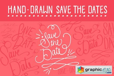 Creativemarket Save the Date Vectors 7920