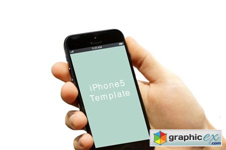 Creativemarket Hand with iPhone5 template_02 2028