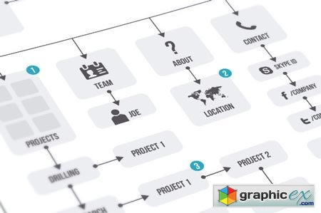 Creativemarket Flowchart & Elements 18512