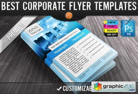 Creativemarket Business Computers Flyers Templates 3355