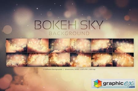 Creativemarket Bokeh SKY Backgrounds 19041