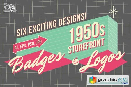 1950s Storefront - Badges and Logos 8828