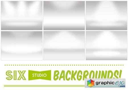 Creativemarket 6 Infinite White Room Backgrounds 3067