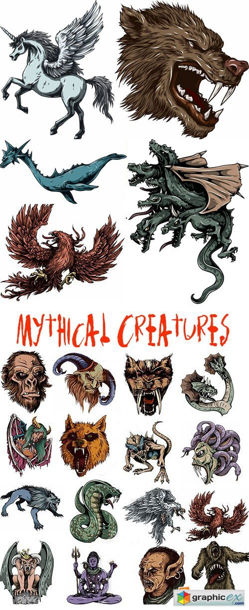 Mythical Creatures Stock Photo Vectors and Illustrations